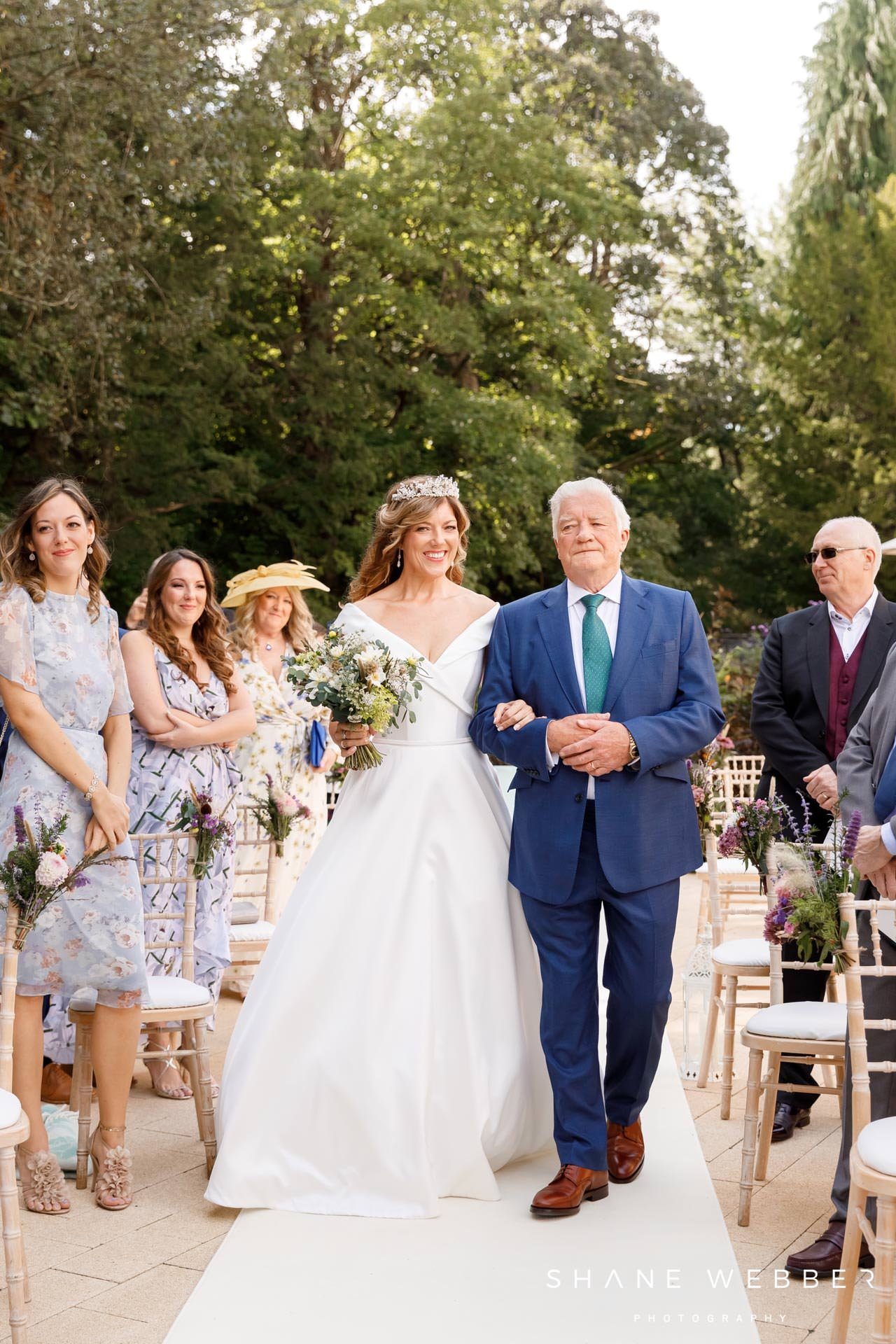 Outdoor wedding ceremony at Grantley Hall
