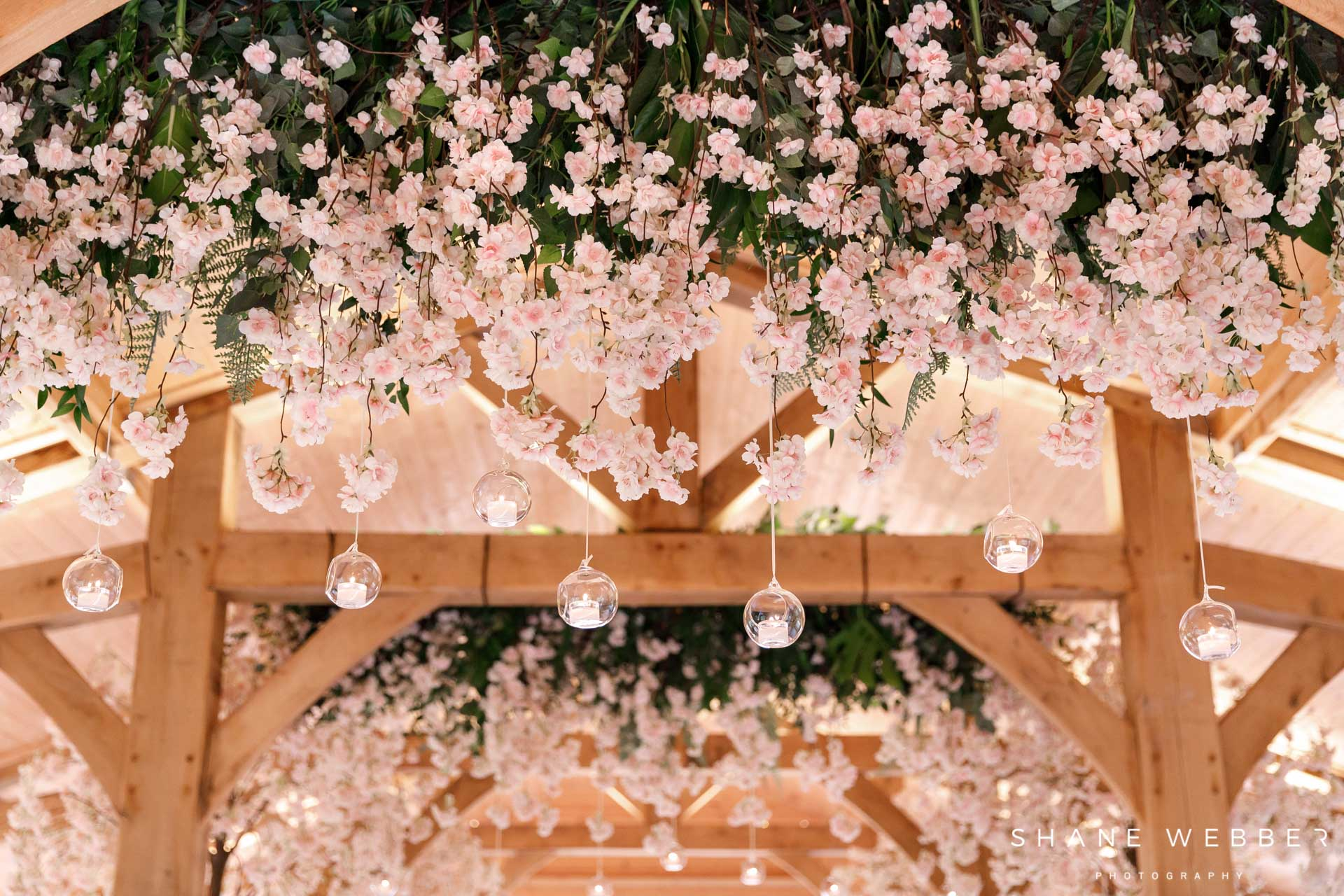 Red Floral Architecture flowers at Colshaw Hall wedding