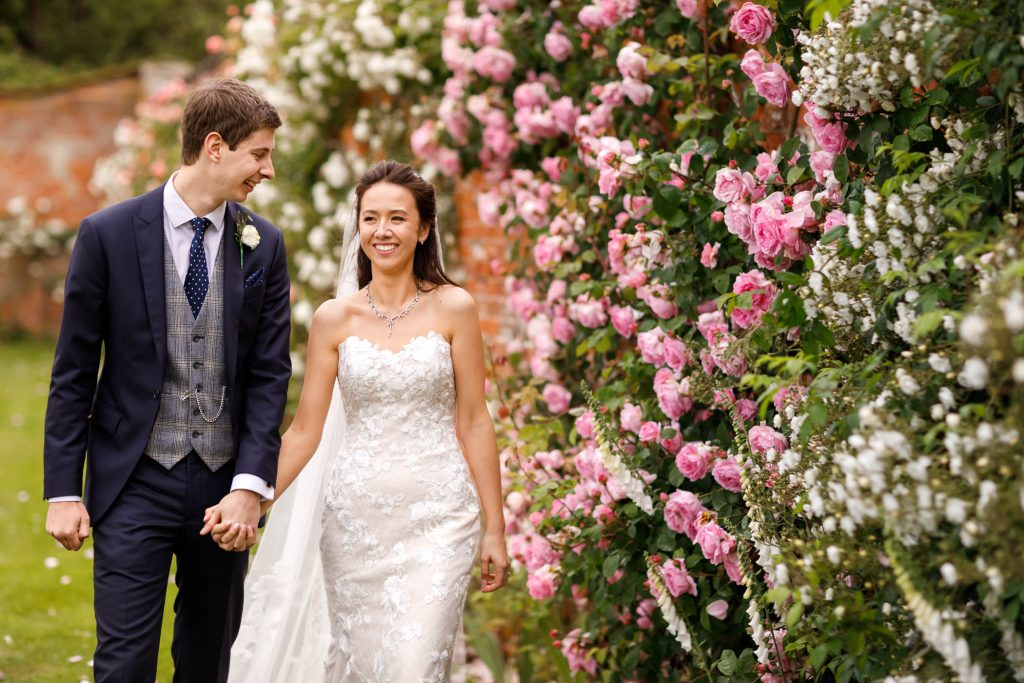 Summer wedding at Combermere Abbey in Cheshire
